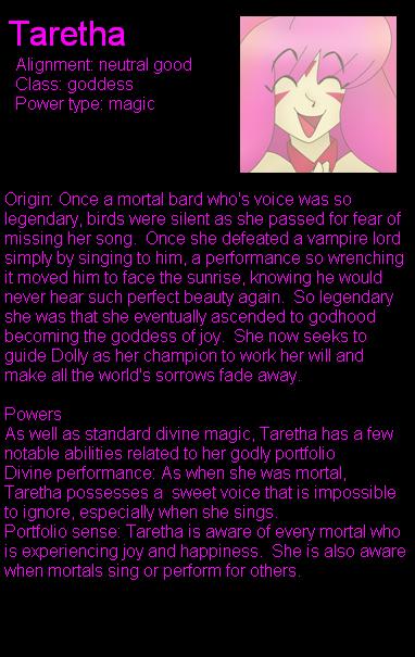 Taretha bio by LordTHawkeye
