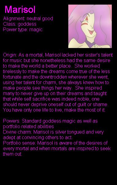 Marisol bio by LordTHawkeye