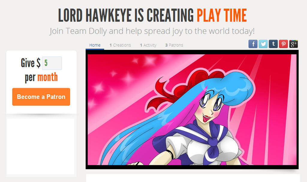 Join Team Dolly!  Become a patron!