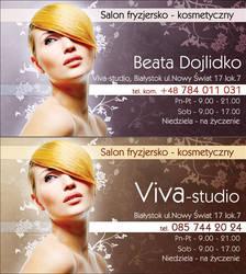 Viva-studio business card by tysmin