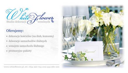 White Flower bussines card by tysmin