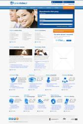 Pracatobie.pl portal layout and logo design
