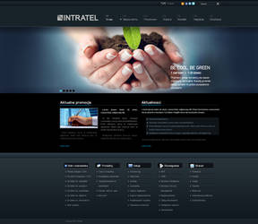 Intratel website layout