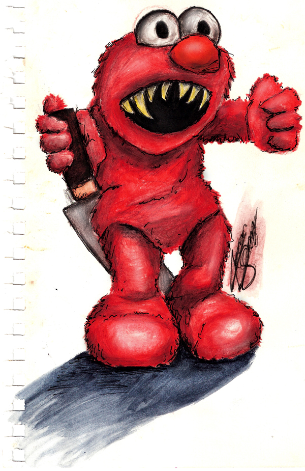 Evil Elmo by JamesSchay on DeviantArt