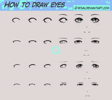 How I Draw Eyes by Q-Kyun