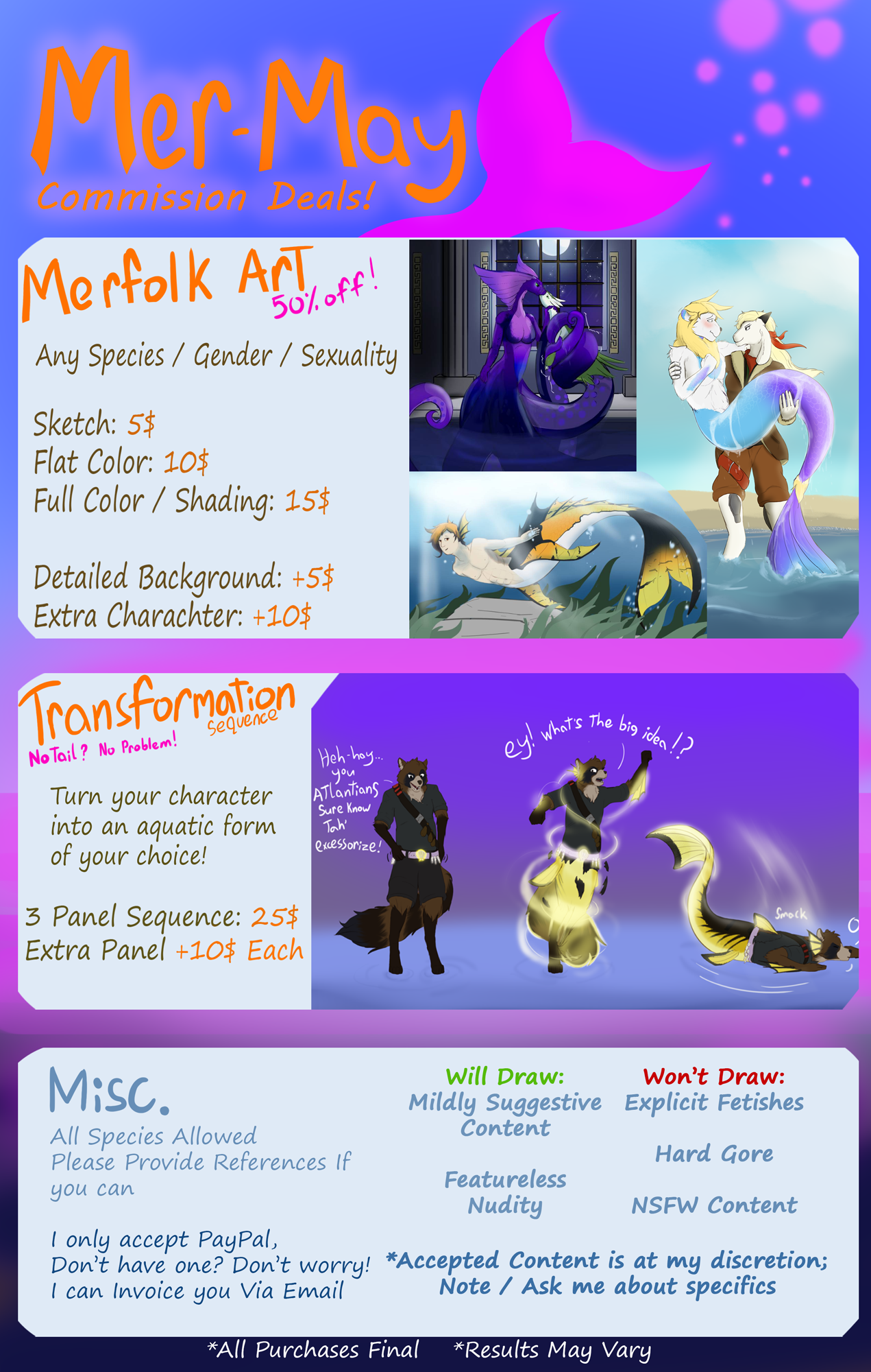 MERMAY Discount Commissions!: OPEN