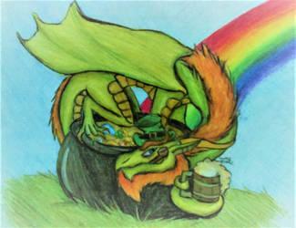 Leprechaun Dragon by lotrfanforlife