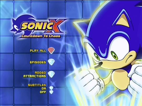 Sonic X Countdown To Chaos Dvd Menu By Tanyatackett On Deviantart