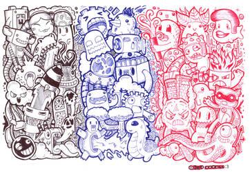 my throwback Doodle using titus pens
