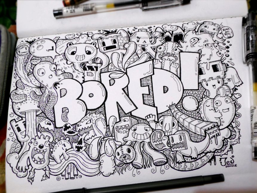 Throwback doodle by jedidia098 on deviantart for What to doodle when your bored