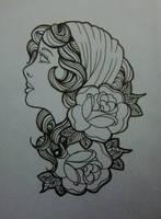 gypsy linework by blue-lemonade2385