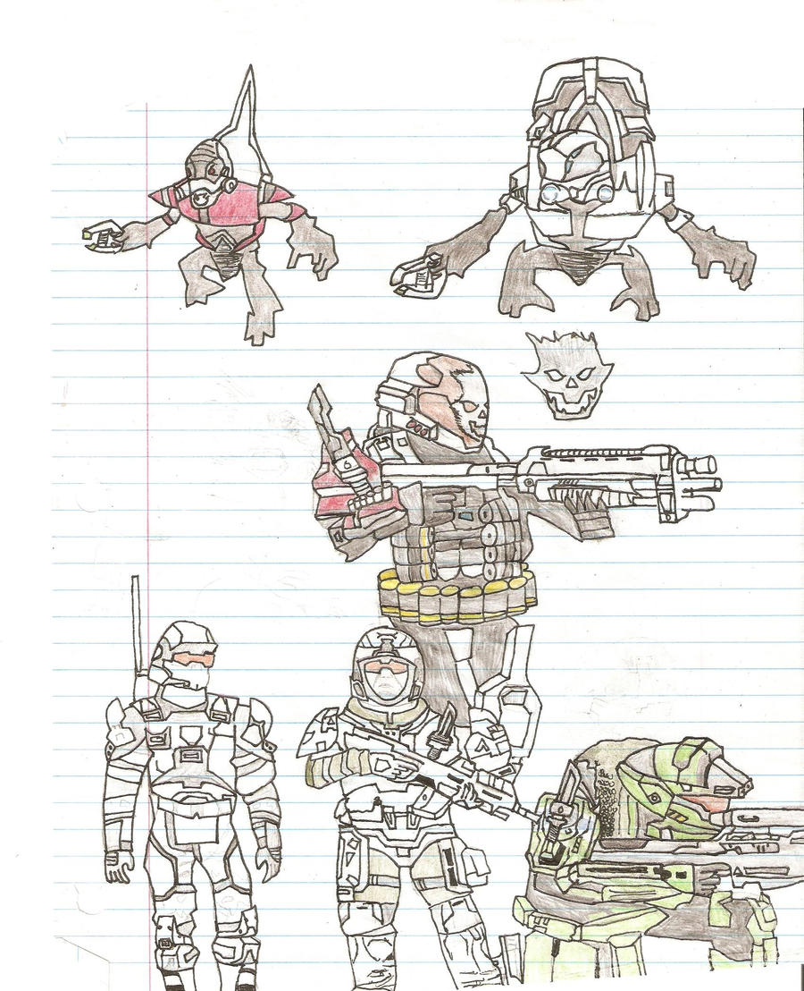 Halo Characters Drawings Halo Reach Drawings by