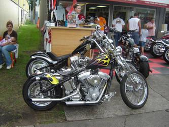 Old School Chopper Motorcycle by ShockWaveX2