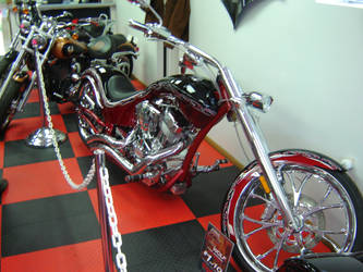 Custom Chopper Motorcycle by ShockWaveX2