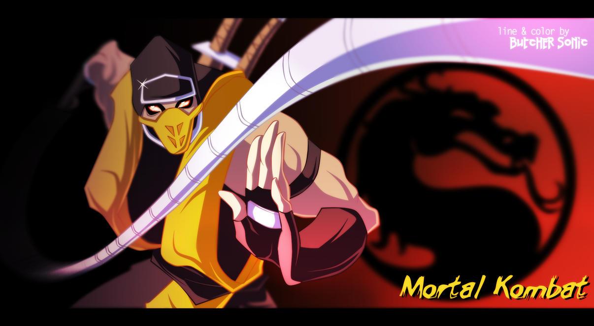 Mortal Kombat. Scorpion color by ButcherSonic