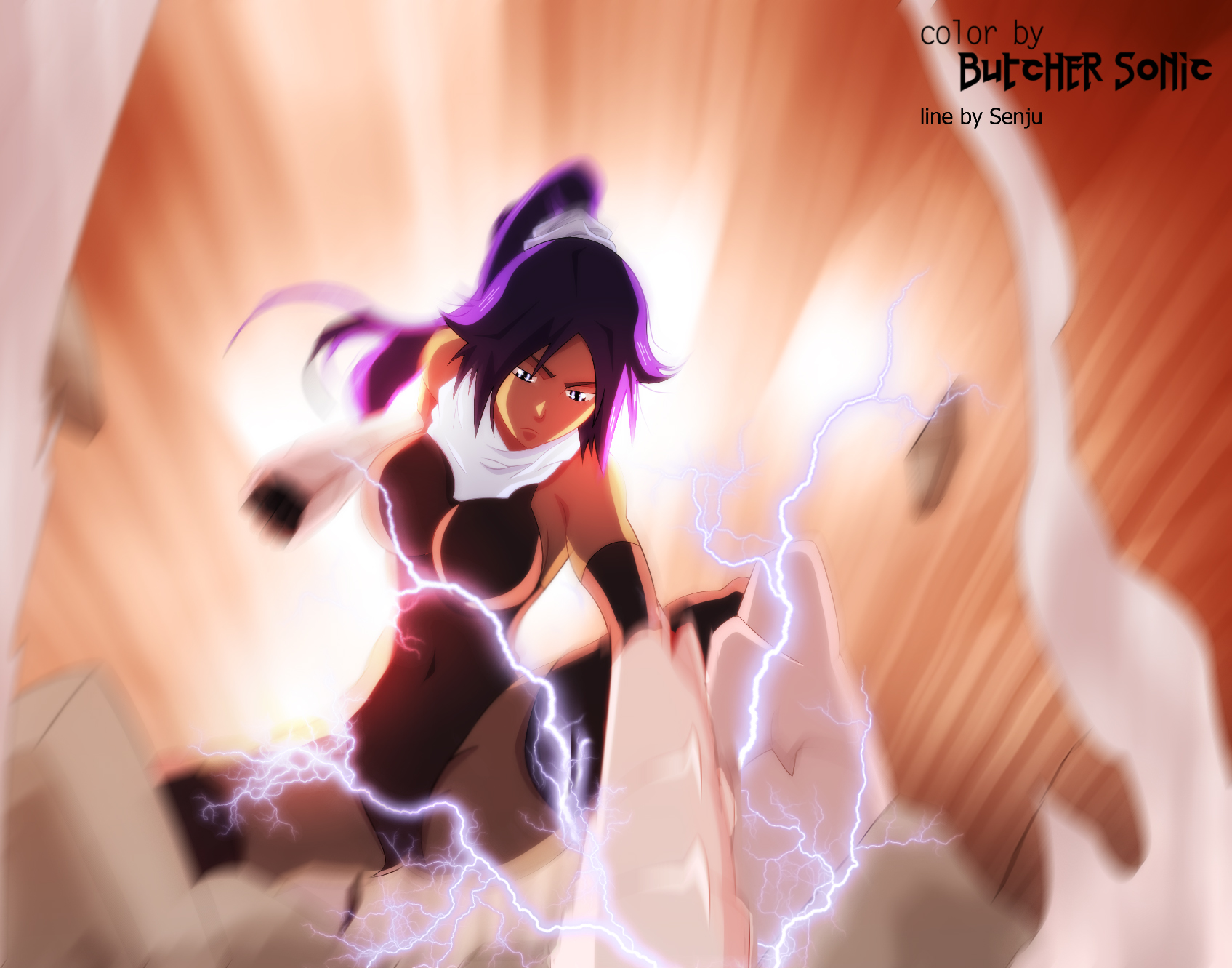 Bleach 403 p17 Shihoin Yoruichi by ButcherSonic
