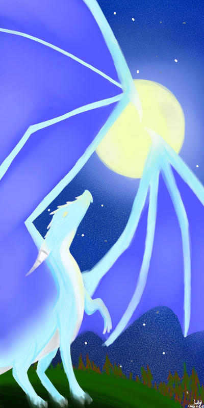 Moonlight dragon by GhostDragon64