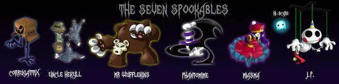 GB: The Seven Spookables by professorfandango