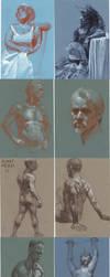 pastel figures by deadhead16mb