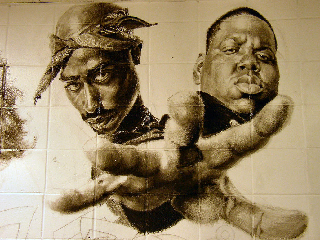 school mural: 2Pac and Biggie by deadhead16mb