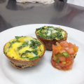 Spinach Quiche With Salsa by animalover222