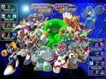 Megaman and Bass wallpaper 4:3