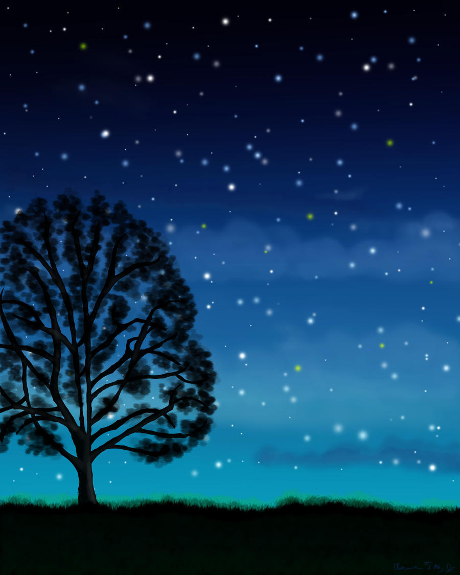 Simple Things Digital Painting: Nighttime In The Savannah By Stargateatl On DeviantArt