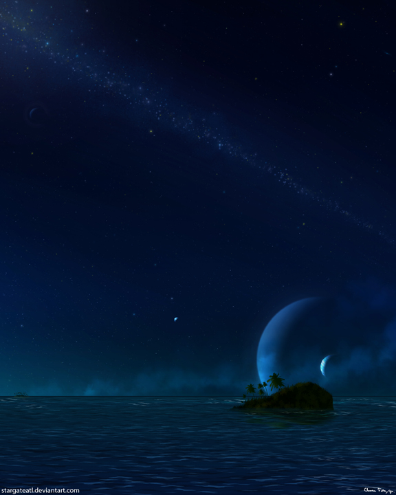 Evening Of The Cosmos (Night Version) by stargateatl