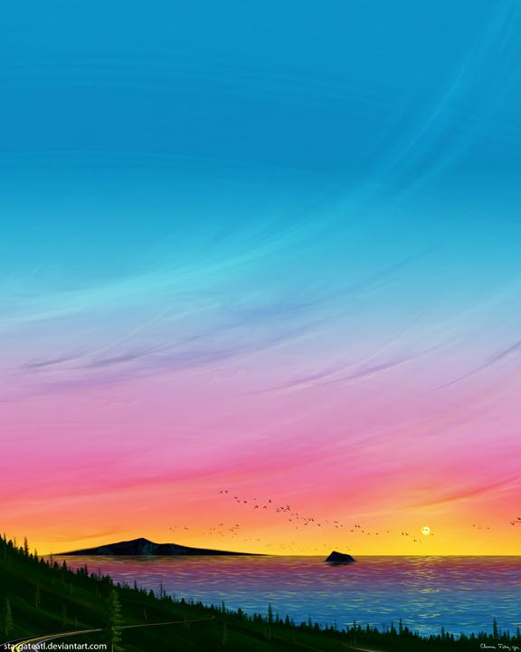 Winding Road (Sunset) by stargateatl