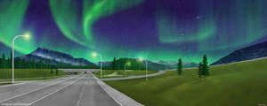 Banff Ave, AB, Canada (Aurora Version)