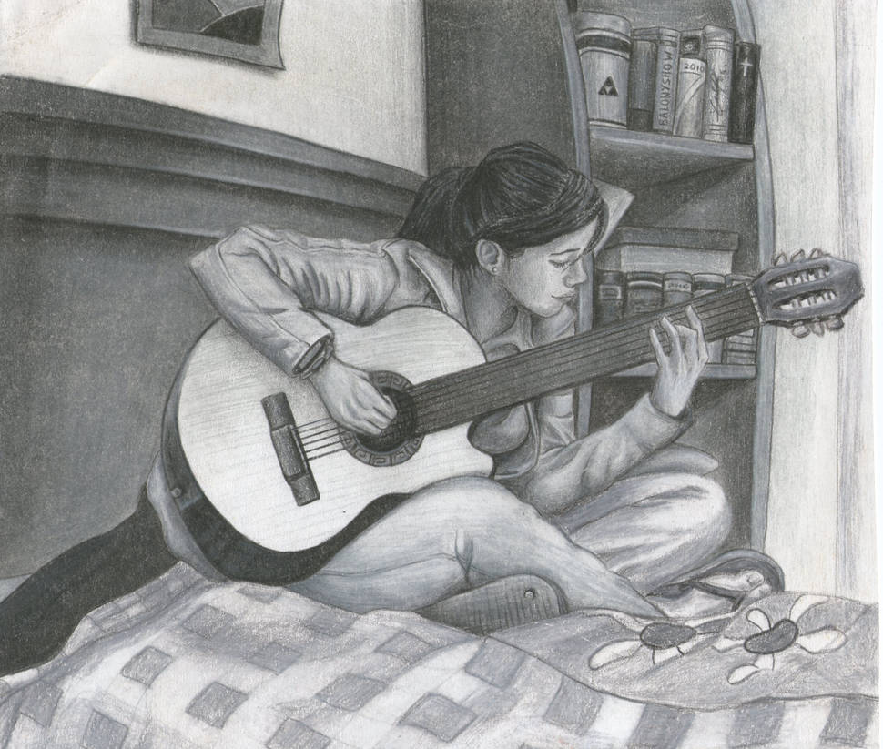 Rox and guitar