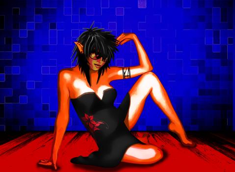 Nina in a Black Dress
