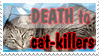 Death to cat killers - stamp by DarkMetaller