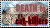 Death to cat killers - stamp by DarkMetaller