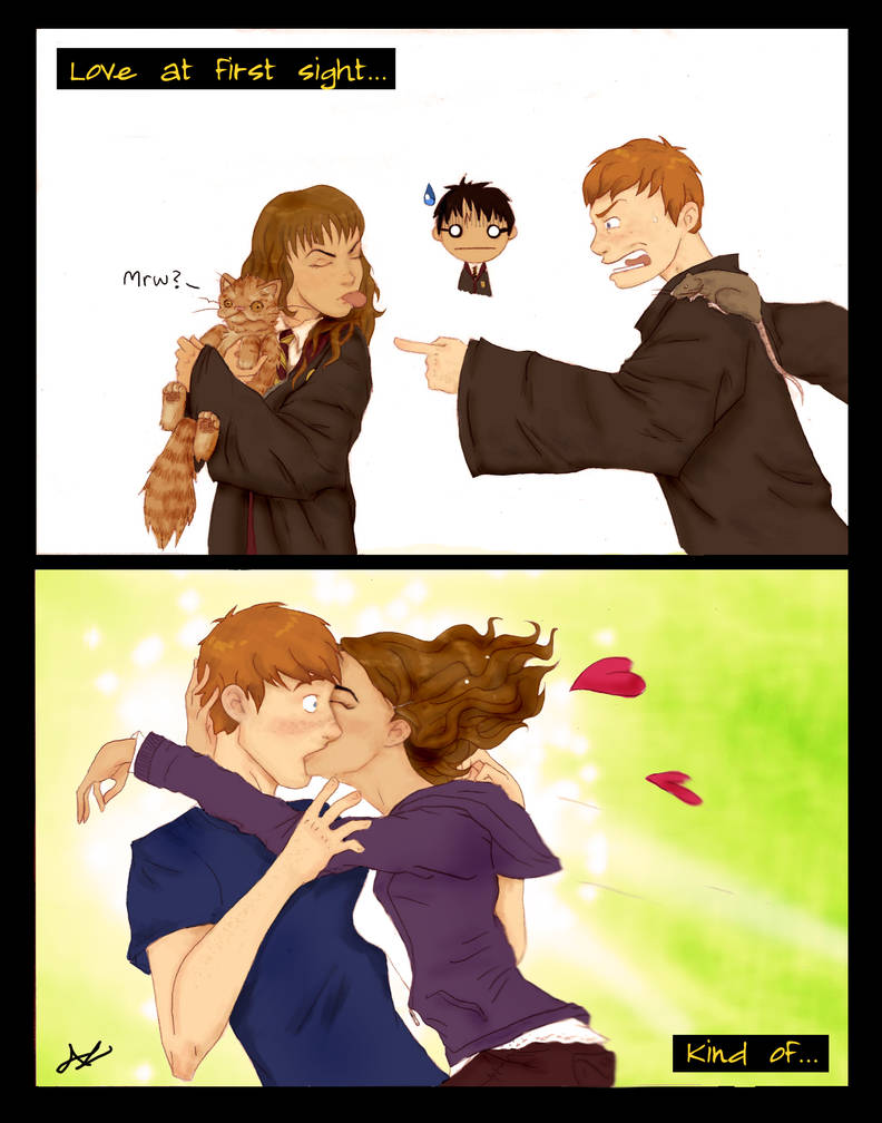 Ron and Hermione: irony by AshyMashy