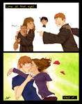Ron and Hermione: irony