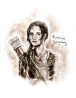 The Girl on Fire by AshyMashy