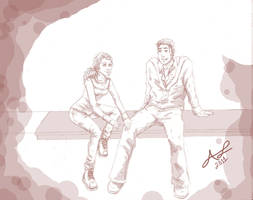 Neville and Luna sketchdump by AshyMashy