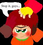 Stop it, guys... by LoloHeartWolf