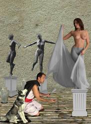Pygmalion and Galatea by Morkos