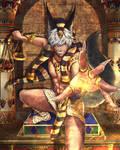 Mammon as Anubis