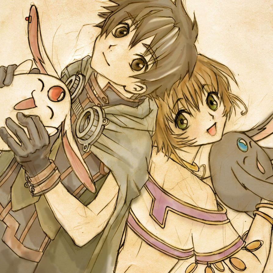Sakura Syaoran and Mokonas by LerikaOsaki