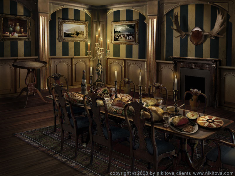 Sleepy hollow dining room by katie watersell on deviantart for Dining room jockey hollow