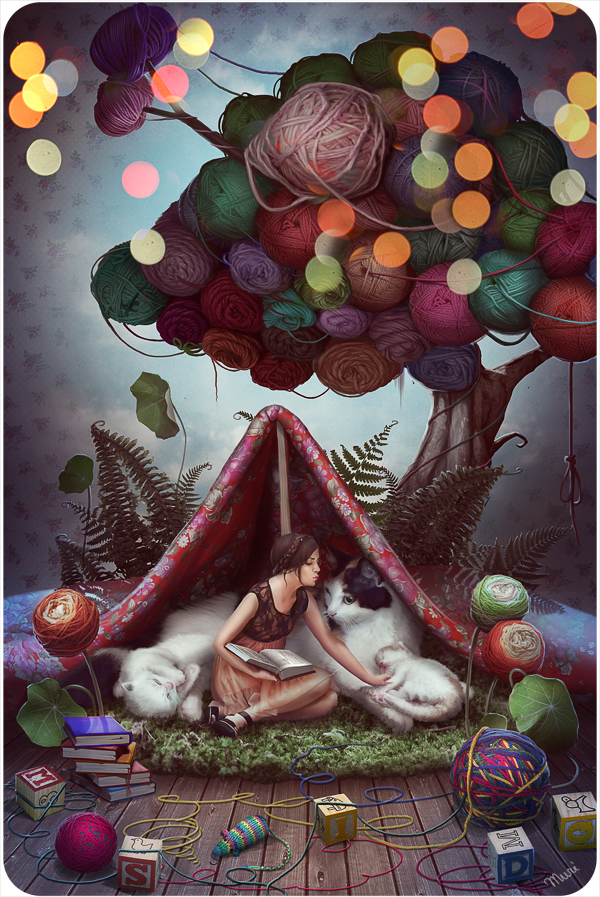 Fairytale about a Yarn tree by kidy-kat