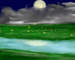 The river at night by Lurker89