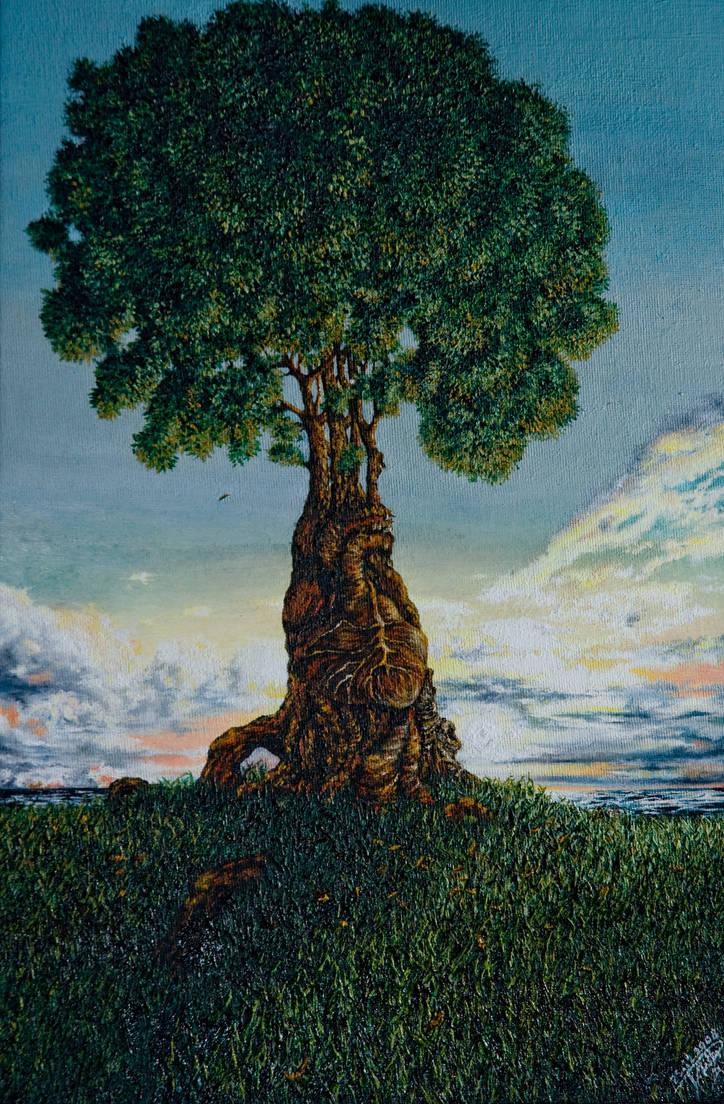 Human Heart - Oil Canvas by erlondeiel