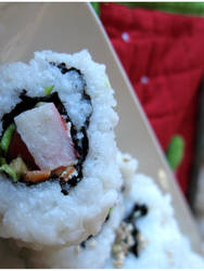 Sushi Closeup by erlondeiel