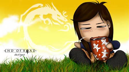 Teatime, Dragon in Mind by erlondeiel