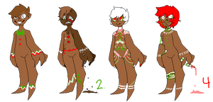 Ginger Bread Adopts (3/4 Open) by IPudding-Adopts