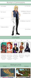 Commission Options and Prices by Rorelse